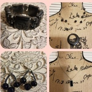 **3 for $10**Bundle of jewelry...all things black